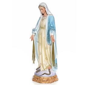 Miraculous Madonna 80cm wood paste, elegant decoration s2