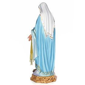 Miraculous Madonna 80cm wood paste, elegant decoration s3