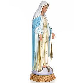 Miraculous Madonna 80cm wood paste, elegant decoration s4