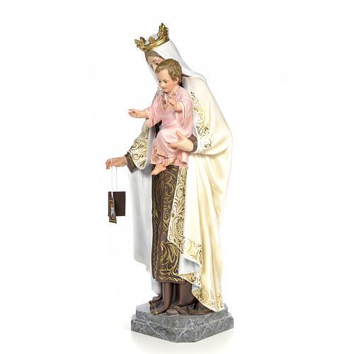 Vergine del Carmelo 100 cm pasta di legno dec. elegante 2