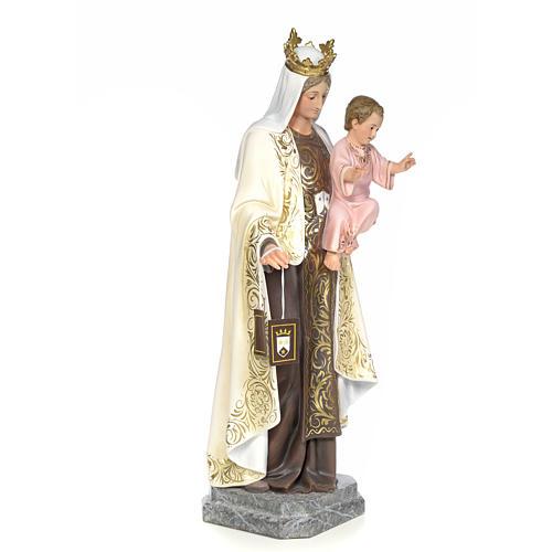Vergine del Carmelo 100 cm pasta di legno dec. elegante 4