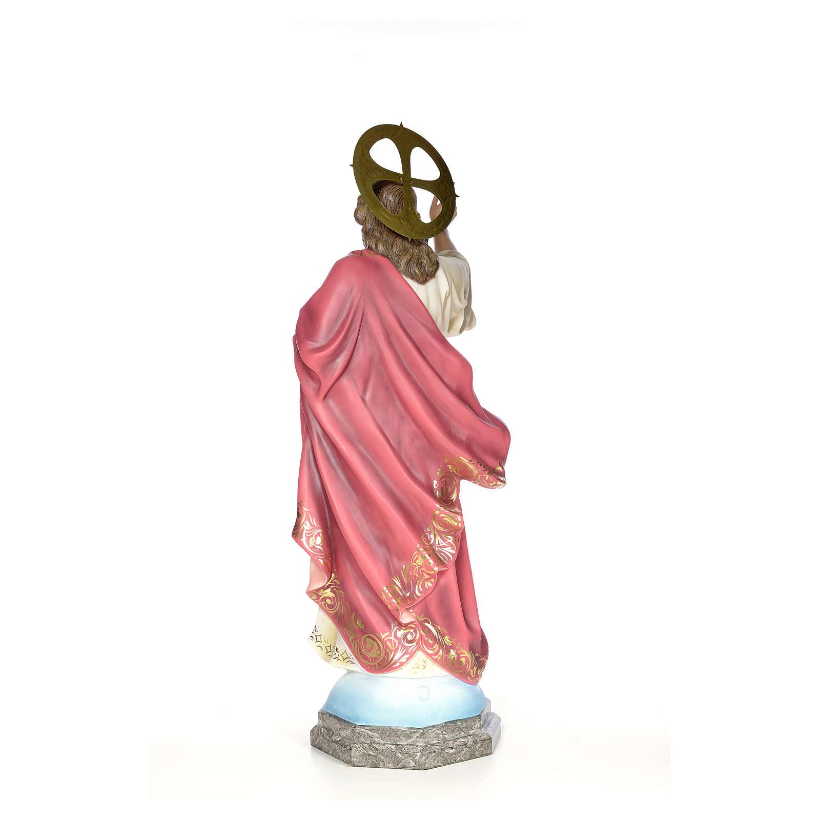 Sacred Heart of Jesus wood paste 100cm, fine finish 4