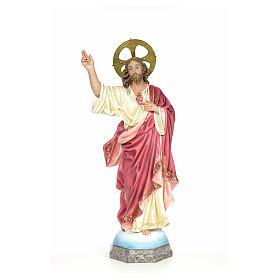 Sacred Heart of Jesus wood paste 100cm, fine finish s1