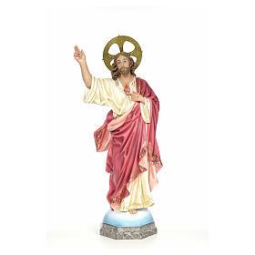 Sacro Cuore di Gesù 100 cm pasta di legno dec. elegante s1