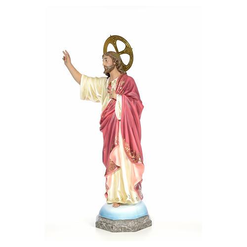 Sacro Cuore di Gesù 100 cm pasta di legno dec. elegante 2