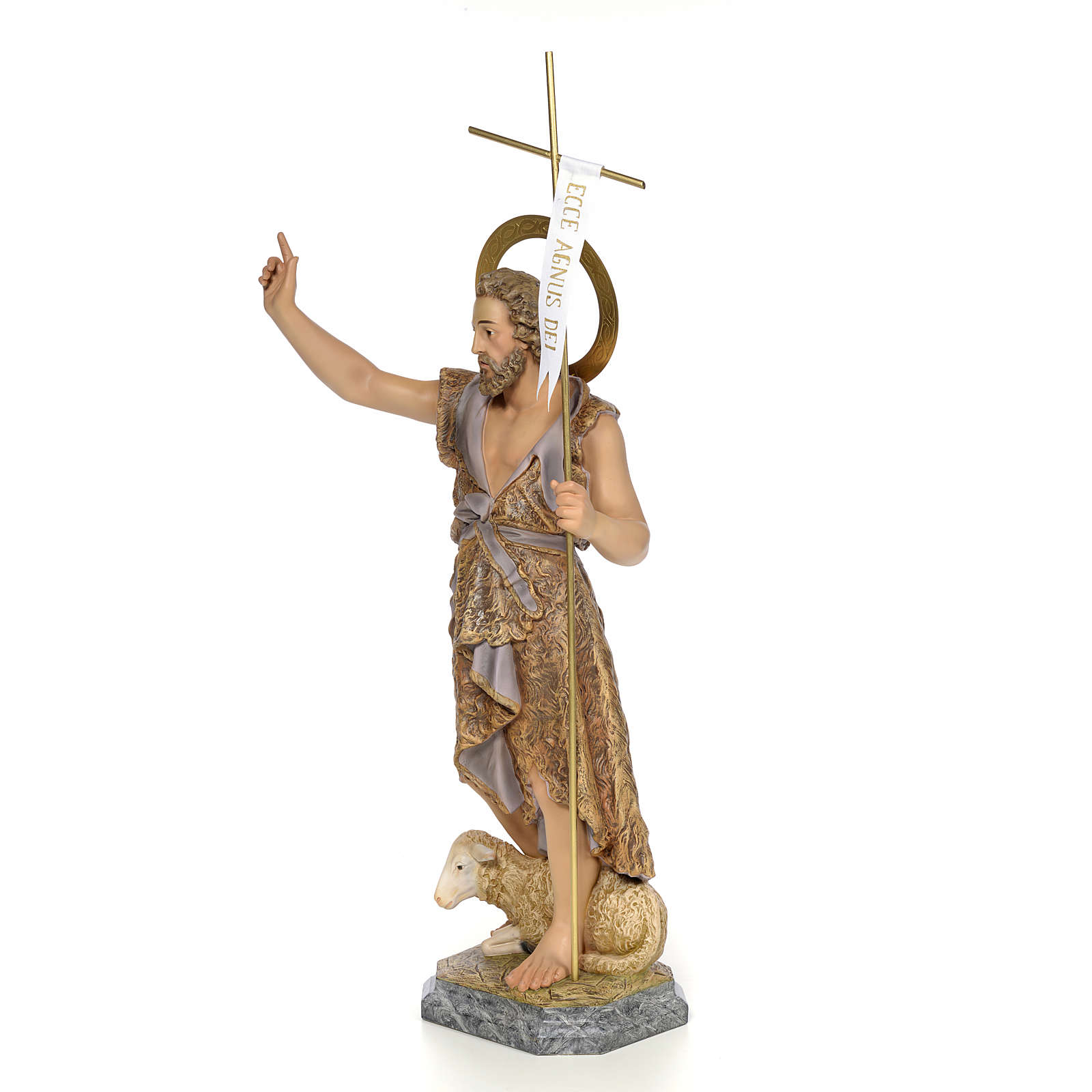 San Juan Bautista 80cm pasta de madera Elegante 4