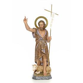 San Giovanni Battista 80 cm pasta di legno dec. elegante s1