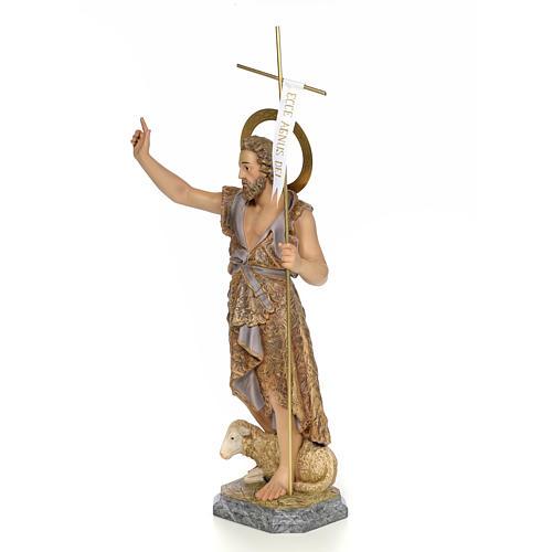 San Giovanni Battista 80 cm pasta di legno dec. elegante 2
