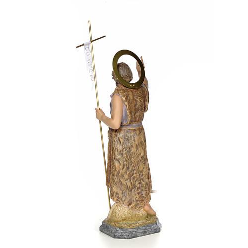 San Giovanni Battista 80 cm pasta di legno dec. elegante 3