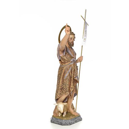 San Giovanni Battista 80 cm pasta di legno dec. elegante 4