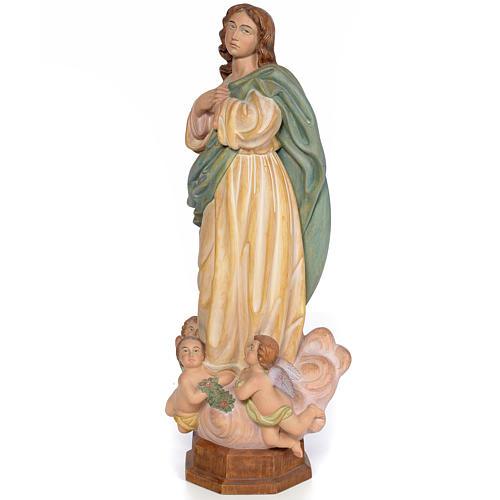 Purissima Concezione 60 cm legno dec. anticata 2