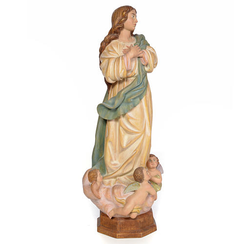 Purissima Concezione 60 cm legno dec. anticata 4