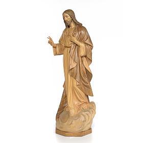 Sagrado Corazón de Jesús 80cm madera dec. bruñida s2