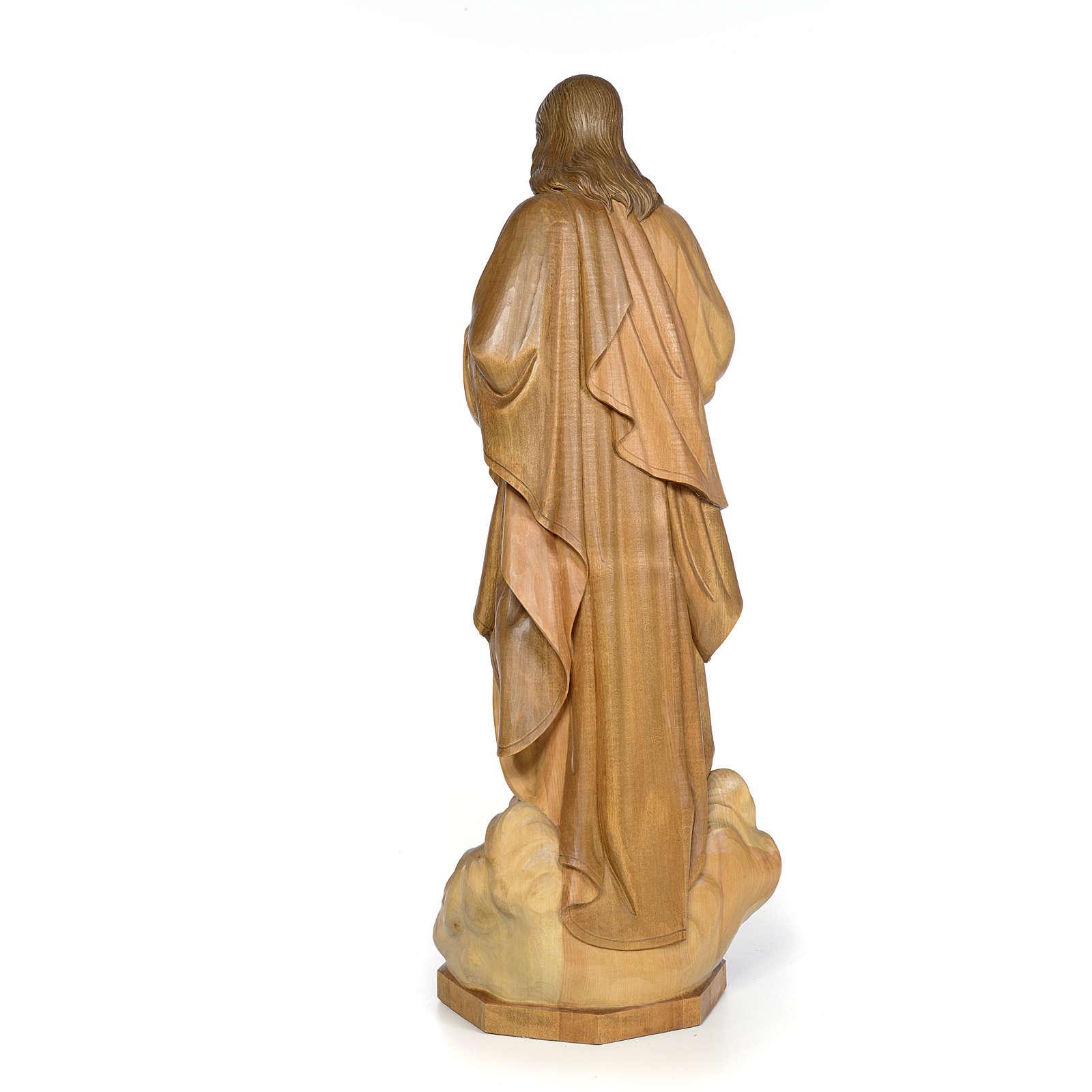 Sacré Coeur de Jésus 80 cm bois finition brunie 4