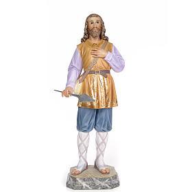 Sant'Isidoro 80 cm pasta di legno dec. elegante s1