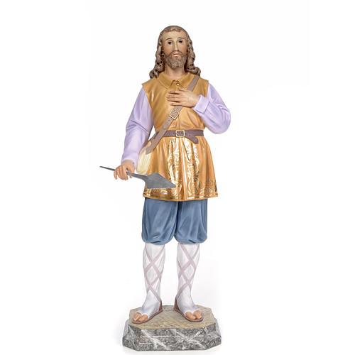 Sant'Isidoro 80 cm pasta di legno dec. elegante 1