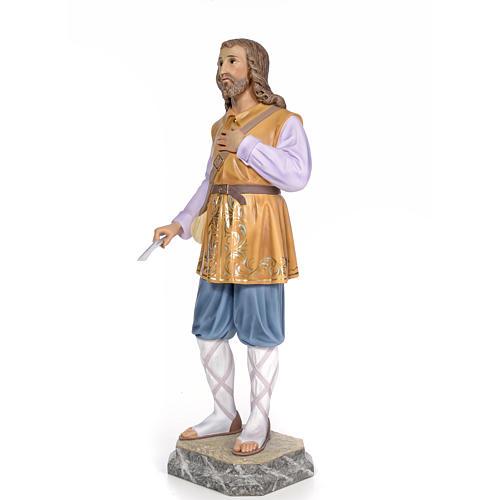 Sant'Isidoro 80 cm pasta di legno dec. elegante 2