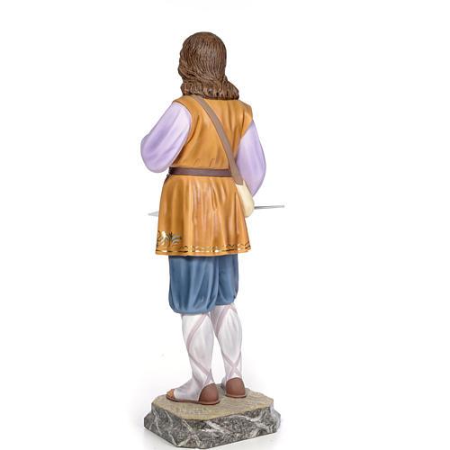 Sant'Isidoro 80 cm pasta di legno dec. elegante 3