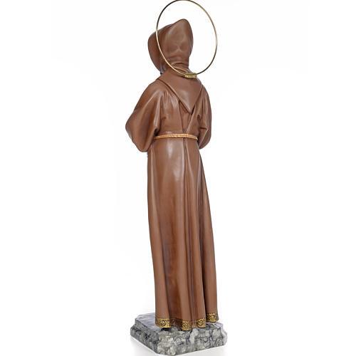 Saint François d'Assise 80 cm pâte à bois fin. brunie 3