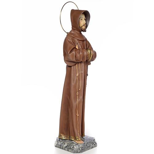 Święty Franciszek z z Asyżu 80 cm ścier drzewny dek. oksydowana 4