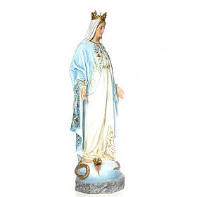 Virgin of the miracle medal wood paste 140cm, fine finish s4