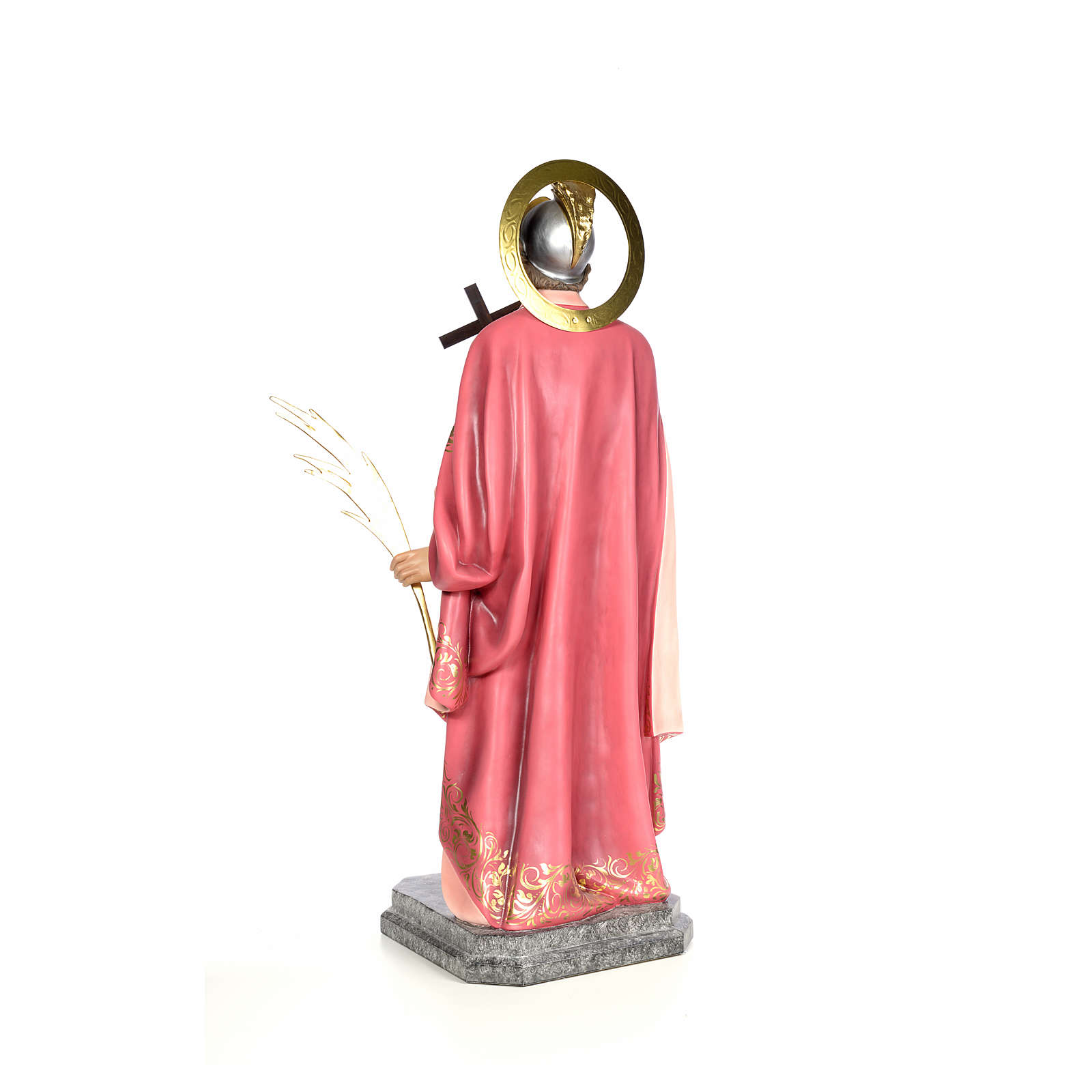 Sant'Espedito 120 cm pasta di legno dec. elegante 4