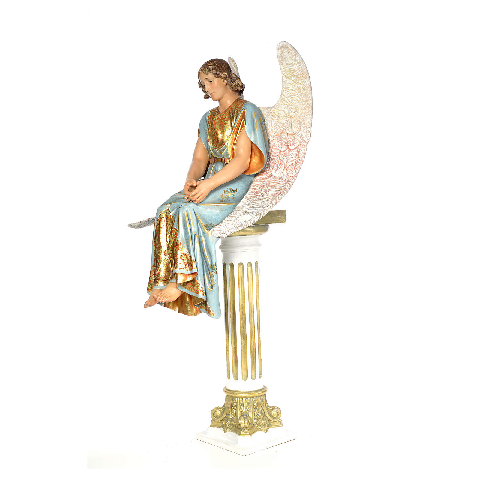 Angel on sepulcher wood paste 110cm, extra finish 4