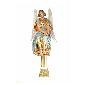 Angel on sepulcher wood paste 110cm, extra finish s1