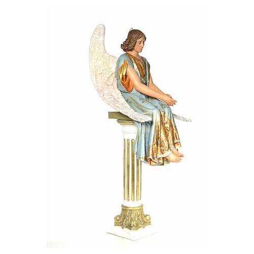Angelo seduto sul sepolcro 110 cm pasta di legno dec. extra 4
