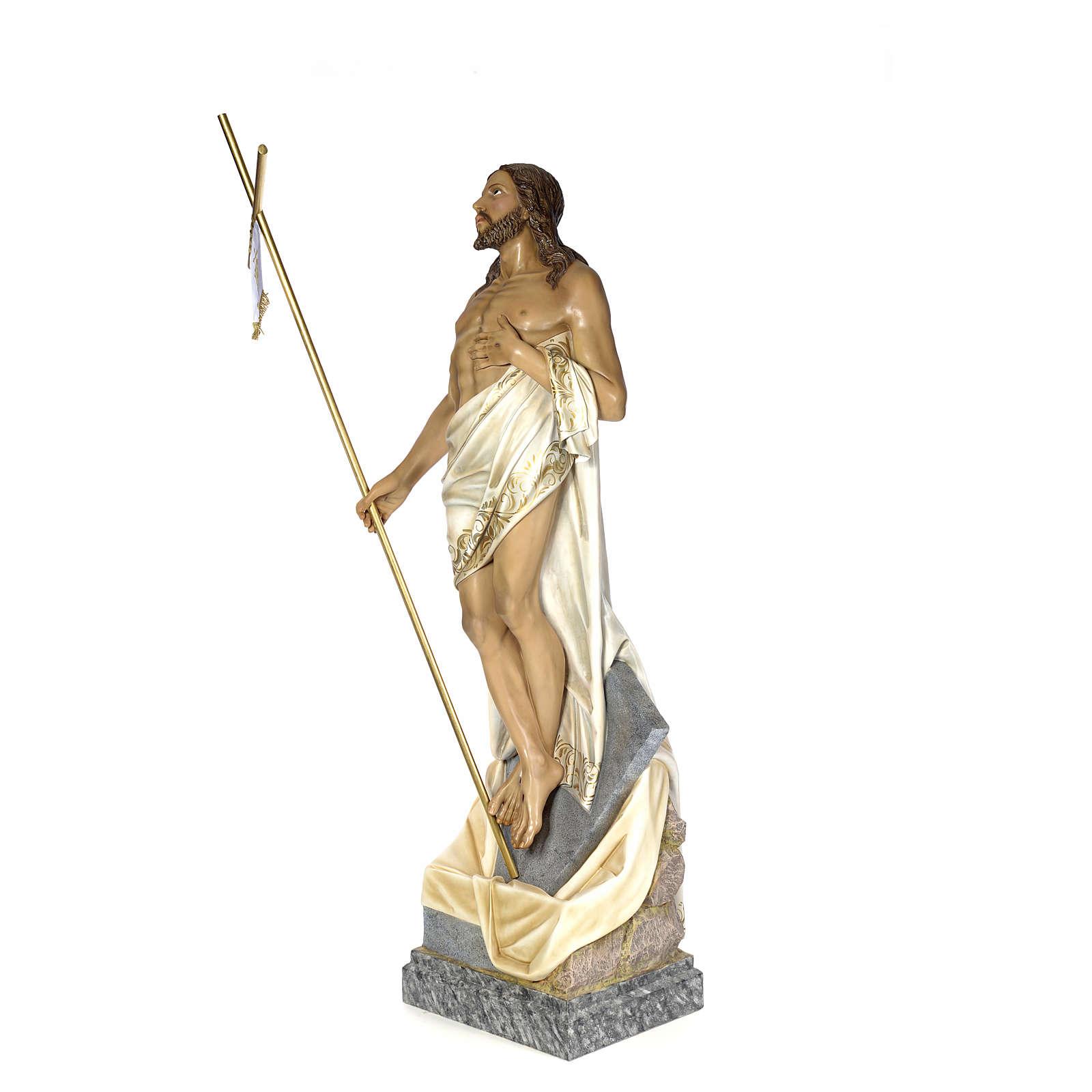 Cristo Risorto 180 cm pasta di legno dec. elegante 4