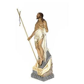 Cristo Risorto 180 cm pasta di legno dec. elegante s2