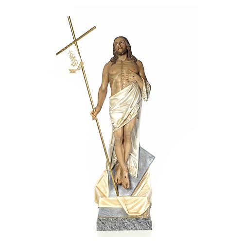 Cristo Risorto 180 cm pasta di legno dec. elegante 1