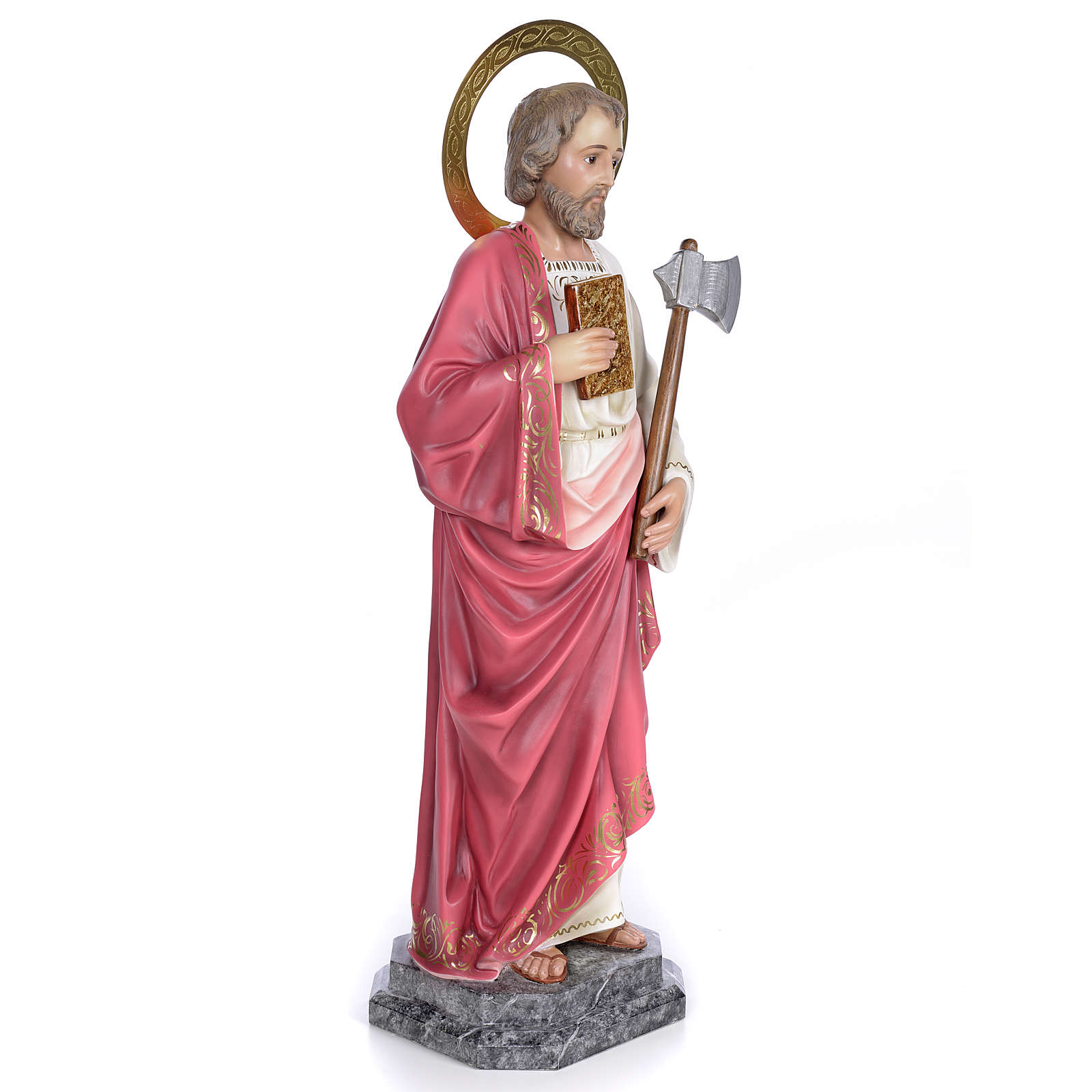 Saint Judas Thaddaeus 80cm wood paste, elegant decoration 4