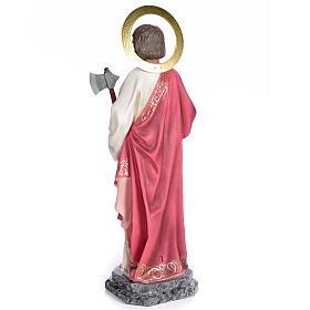 Saint Judas Thaddaeus 80cm wood paste, elegant decoration s3