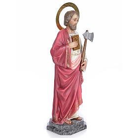 Saint Judas Thaddaeus 80cm wood paste, elegant decoration s4