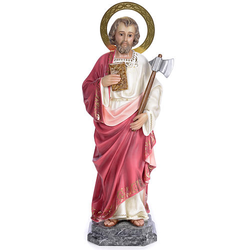 Saint Judas Thaddaeus 80cm wood paste, elegant decoration 1