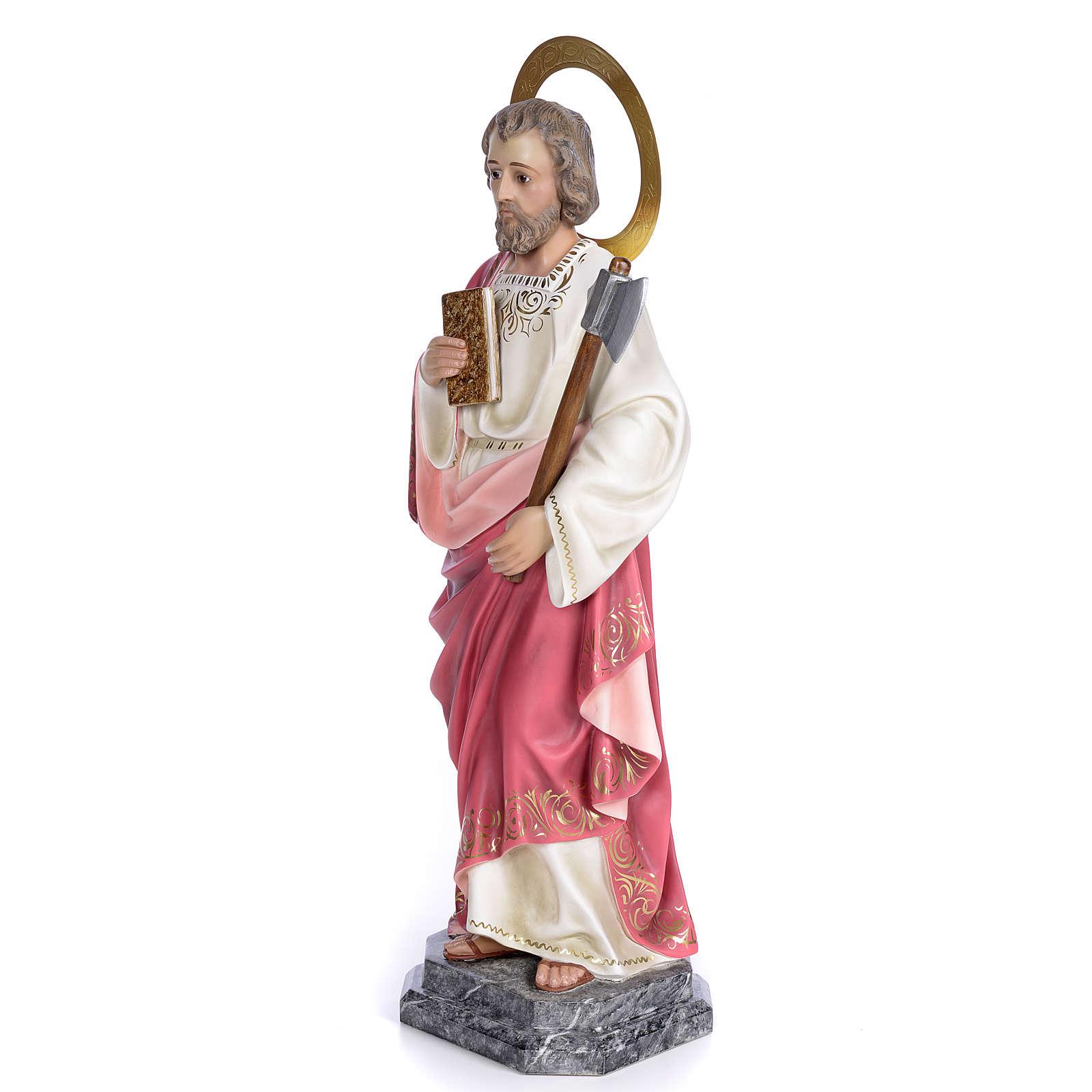 San Giuda Taddeo 80 cm pasta di legno dec. elegante 4