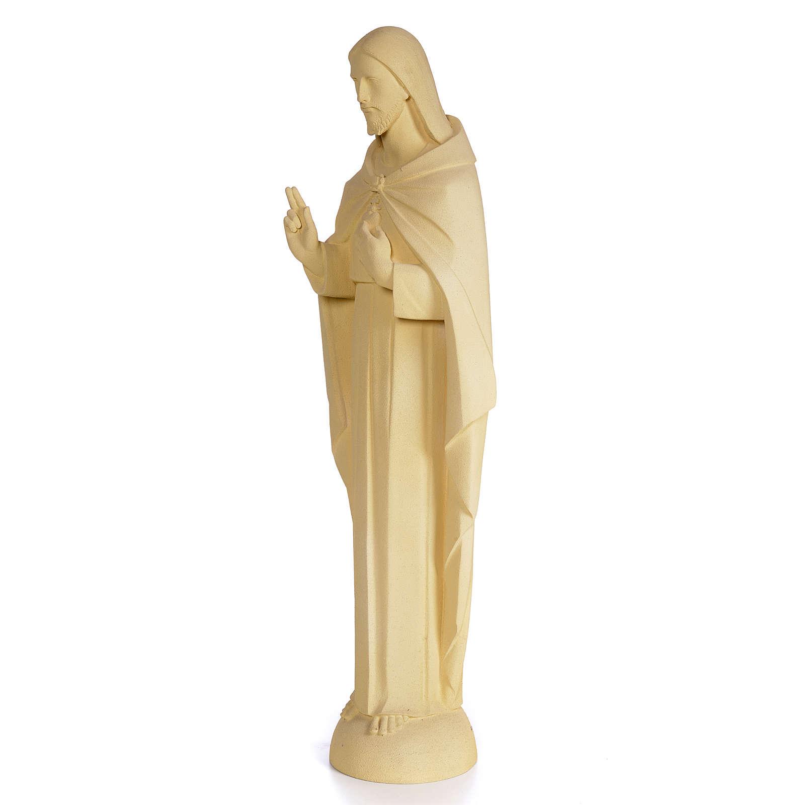 Sagrado Corazón de Jesús 100cm dec. arena pasta de madera 4
