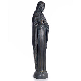 Sacred Heart of Jesus, 100cm in wood paste, bronzed decoration s4