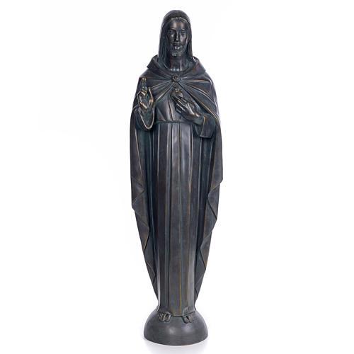 Sagrado Corazón de Jesús 100cm. dec. bronceada pas 1