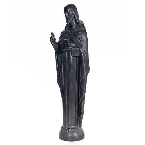 Sagrado Corazón de Jesús 100cm. dec. bronceada pas 2