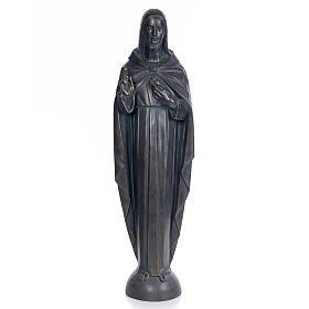 Sacred Heart of Jesus, 100cm in wood paste, bronzed decoration s1