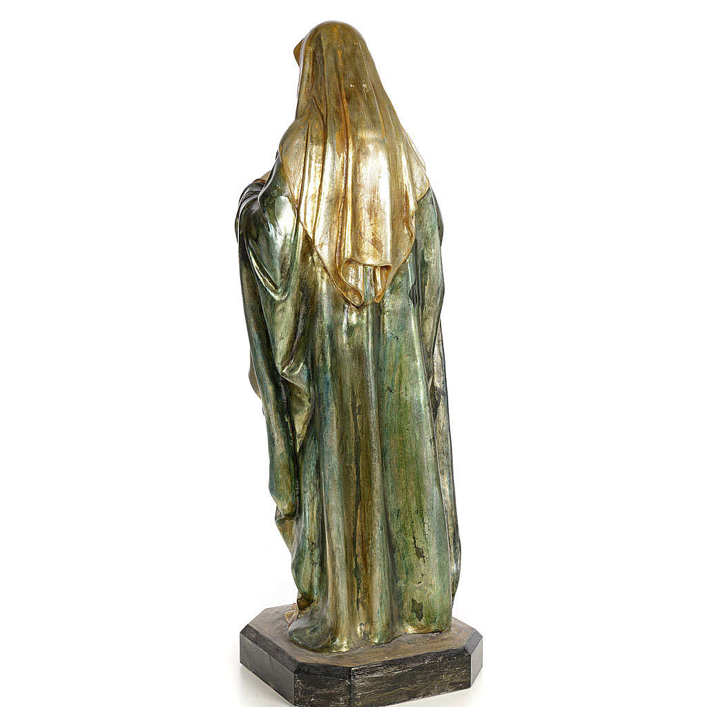 Saint-Coeur de Marie 80 cm pâte à bois fin. polychrome 4
