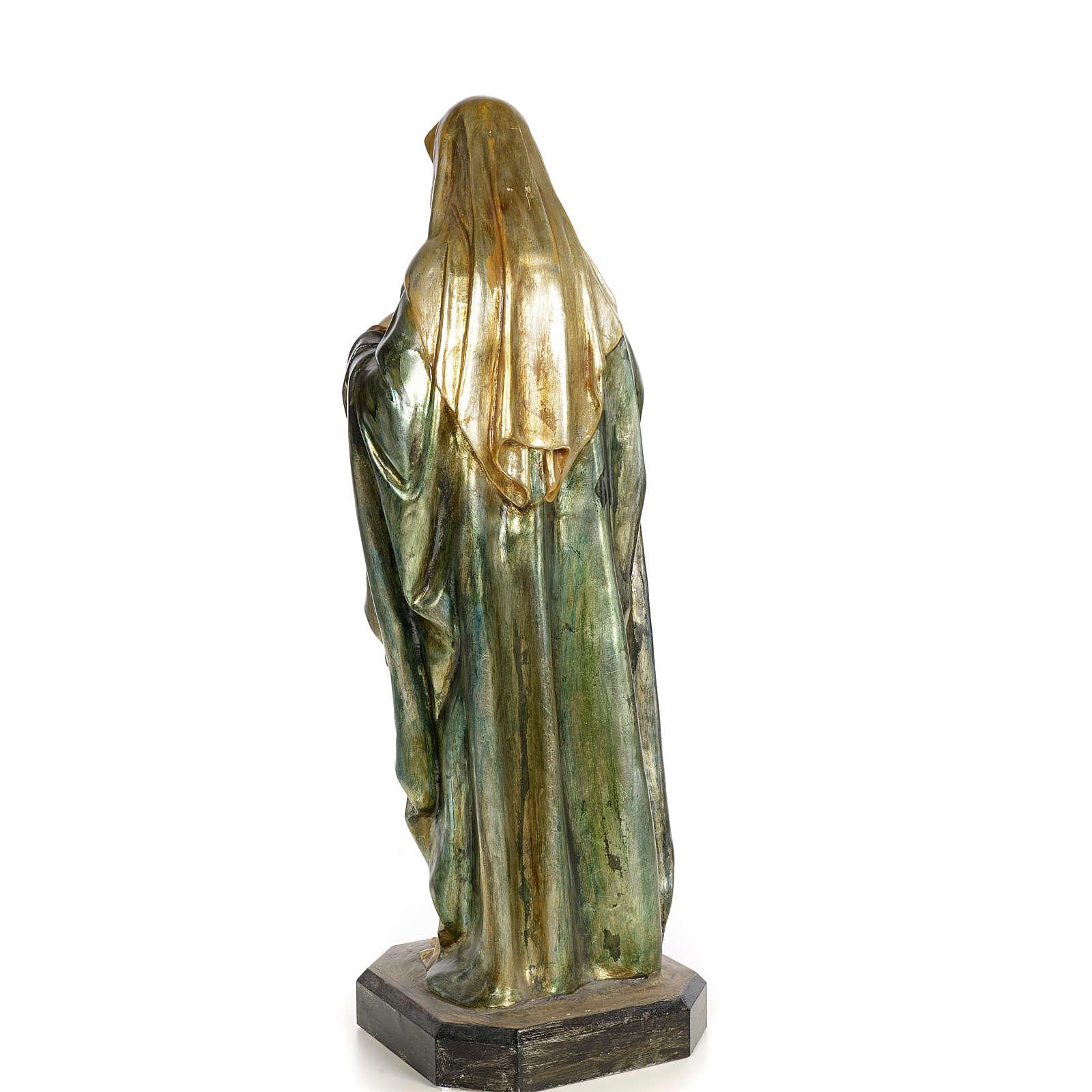 Sacro Cuore di Maria 80 cm pasta di legno dec. policroma 4