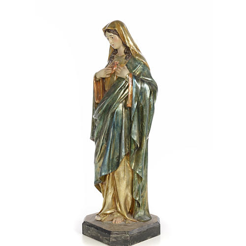 Sacro Cuore di Maria 80 cm pasta di legno dec. policroma 8
