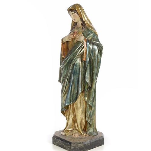 Sacro Cuore di Maria 80 cm pasta di legno dec. policroma 2