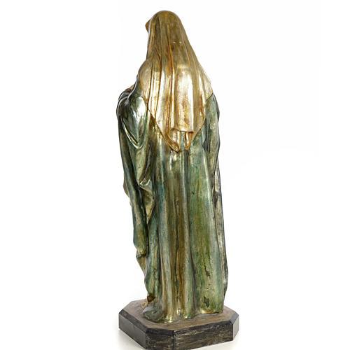 Sacro Cuore di Maria 80 cm pasta di legno dec. policroma 3