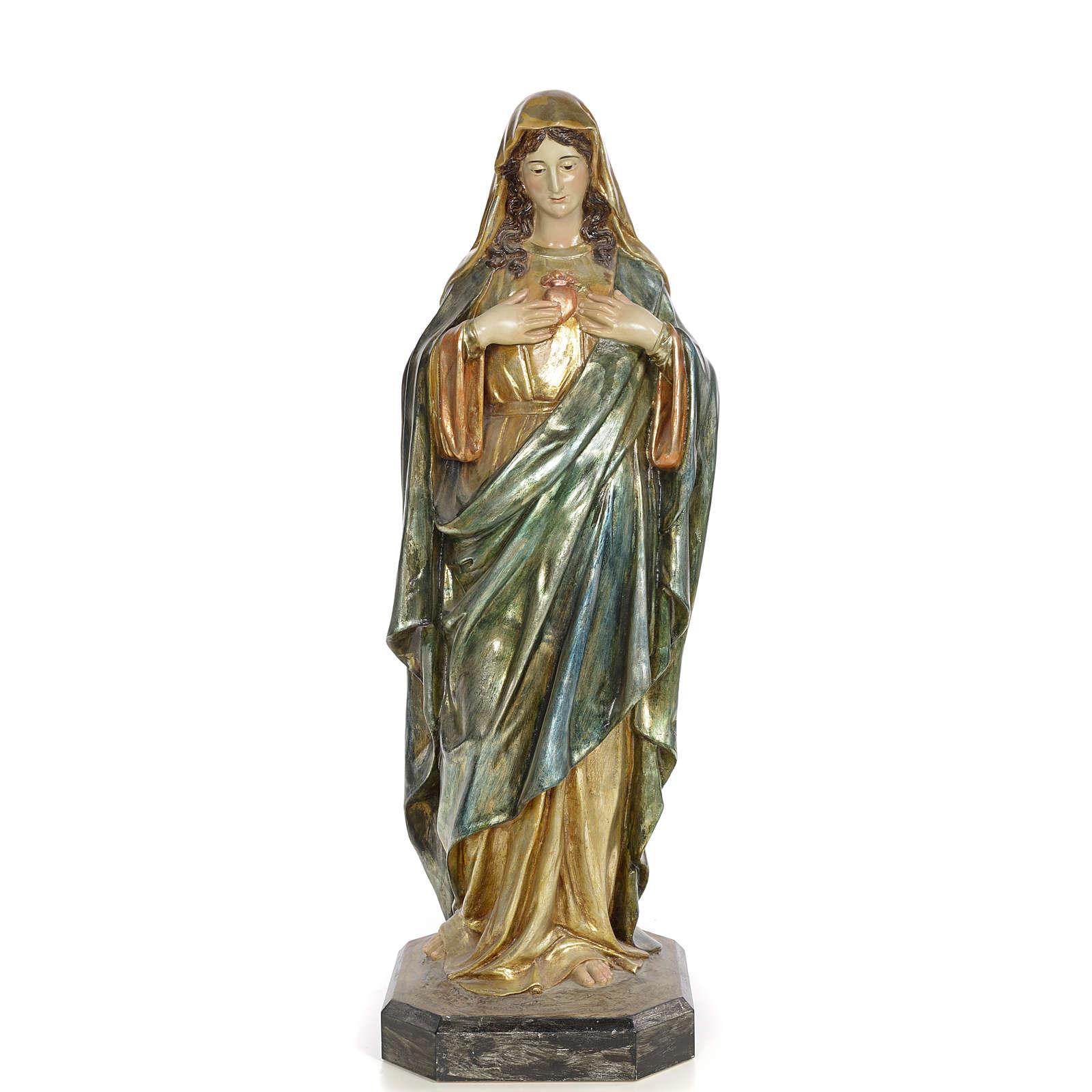 Niepokalane Serce Maryi 80 cm ścier drzewny dek. policroma 4