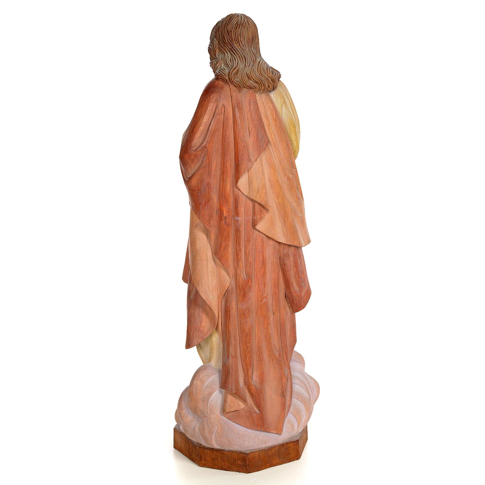 Sagrado Corazón de Jesús 60cm madera pintada 4