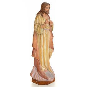 Sagrado Corazón de Jesús 60cm madera pintada s4